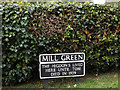 TM1384 : Mill Green sign by Adrian Cable