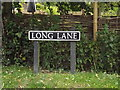 TM1384 : Long Lane sign by Adrian Cable