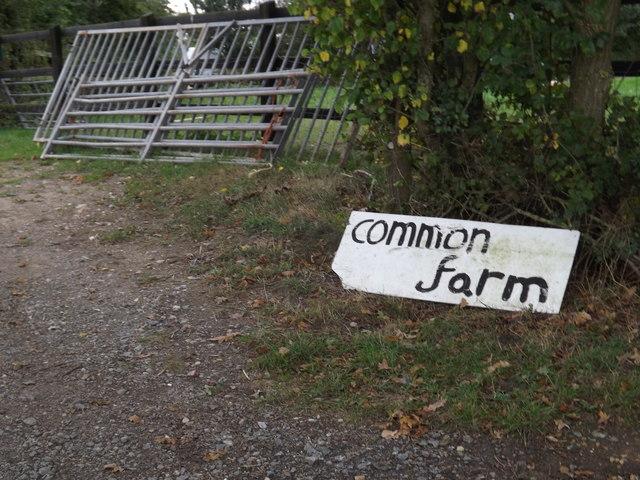 Common Farm sign