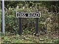 TM1383 : Diss Road sign by Adrian Cable