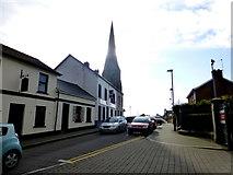 H4472 : St Columba's Parish Church of Ireland Spire, Omagh by Kenneth  Allen