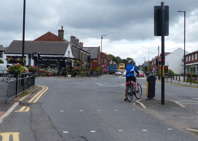 Orrell Road junction in Orrell