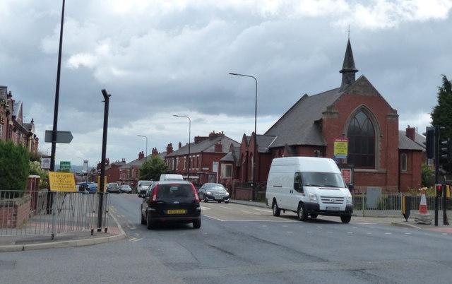 Ormskirk Road in Pemberton