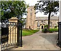 SD3439 : St Chad's: South-west entrance by Gerald England