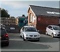 SH5800 : Station Road entrance to Tywyn railway station by Jaggery