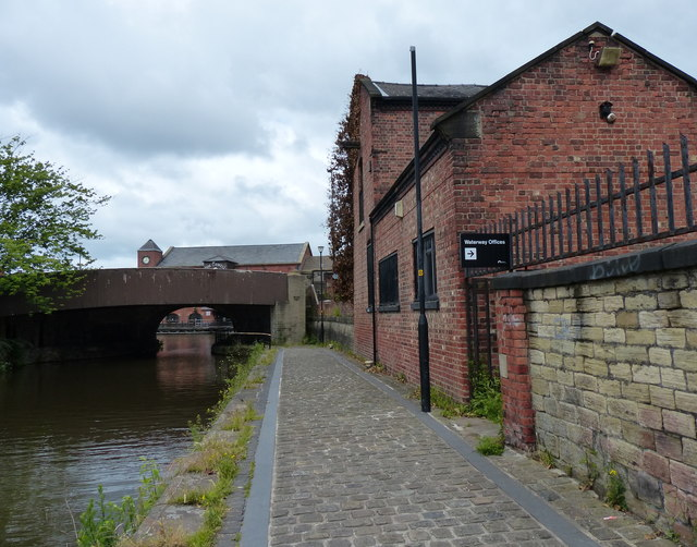 Leeds and Liverpool Canal in Wigan