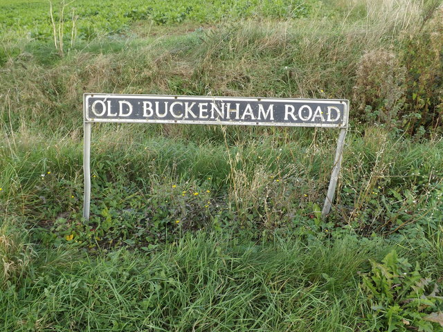 Old Buckenham Road sign