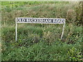 TM0993 : Old Buckenham Road sign by Adrian Cable