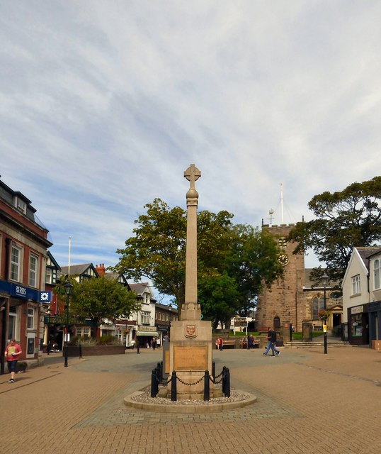 Poulton-le-Fylde War Memorial in the Market Place