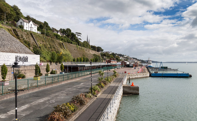 The railway station and quayside, Cobh
