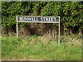 TM1094 : Bunwell Street sign by Adrian Cable