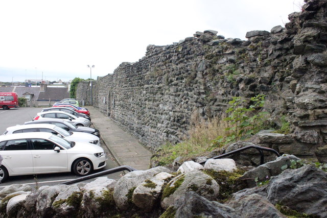 The north wall of Caer Gybi (Roman Fort)