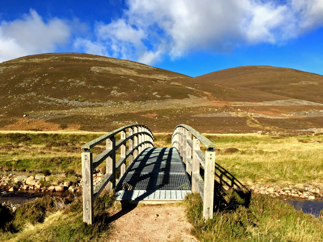 Footbridge in Glentanar