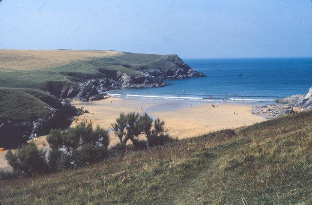 "Porth (or ""Polly"") Joke beach, Cornwall 1979"
