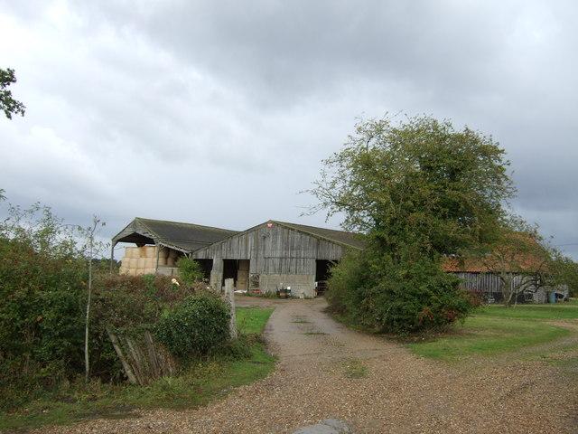 Farm buildings, Denton Road Farm