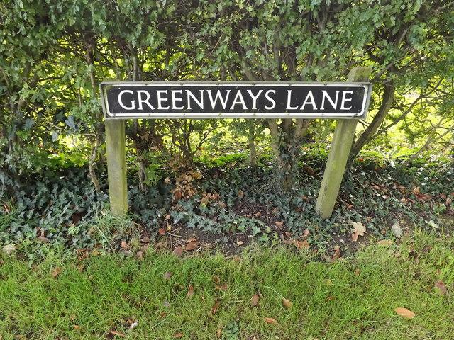 Greenways Lane sign
