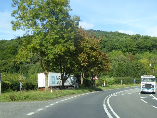 Lay-by on A49 south of Dinmore Hill