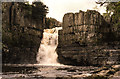 NY8828 : High Force waterfall 1990 by Mike Dodman