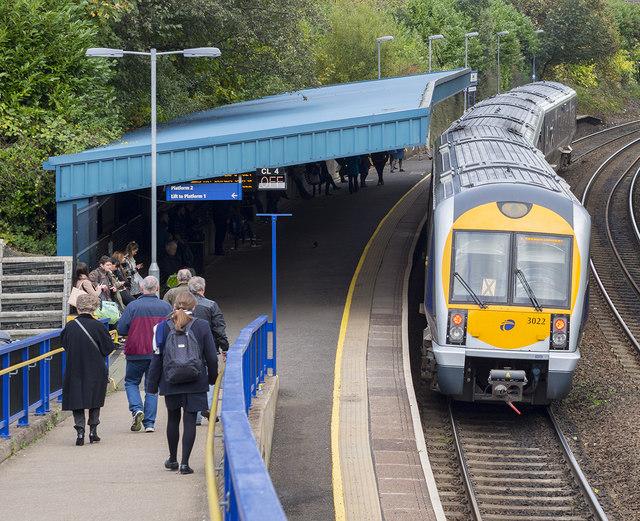 Train, Botanic Station, Belfast