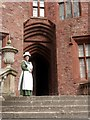 SJ2106 : Castle entrance, with a Victorian housemaid to greet us, Powis Castle by Derek Voller