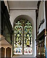 SD3439 : Stained glass and organ in St Chad's, Poulton-le-Fylde by Gerald England