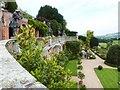 SJ2106 : Statues on the mid level Terrace, Powis Castle by Derek Voller