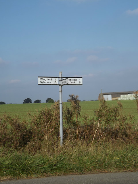 Signpost on Dale Road