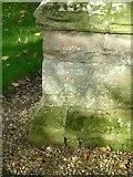SK7431 : Bench mark, St Mary's Church, Harby by Alan Murray-Rust