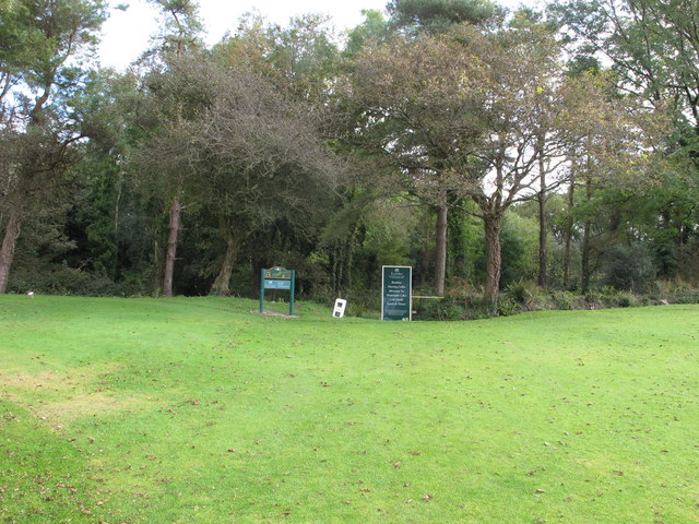 Path through Lyme Regis golf club and Fern Hill Coppice