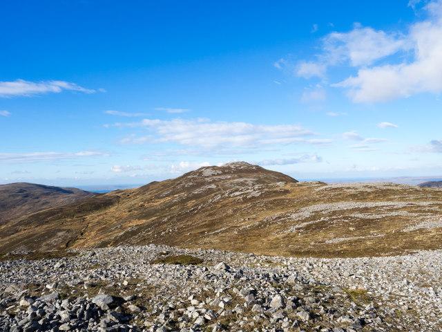 Areas of stone on Beinn Bheigier