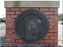 NS2875 : Plaque on Scotts' shipyard cairn by Lairich Rig