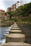 NZ7818 : Stepping stones at Staithes by Oliver Mills