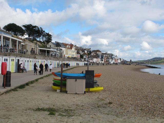 Kayak hire and beach huts, Lyme Regis