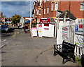 SJ6551 : Domesday black bench in Pillory Street, Nantwich by Jaggery