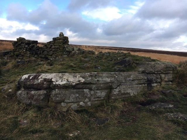 The Hurkling Stone on White Edge Moor