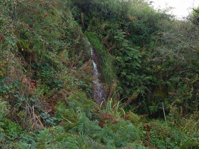 Waterfall near the ruins of Knocknairshill Farm