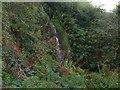 NS3074 : Waterfall near the ruins of Knocknairshill Farm by Lairich Rig