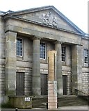 H6733 : The Royal Arms of the House of Hanover on the Pediment of Monaghan Courthouse by Eric Jones