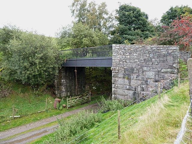 Farm bridge over the former railway line