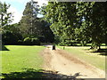 TL8161 : Path at Ixworth House by Adrian Cable