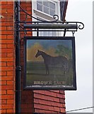 SU1480 : Brown Jack (2) - sign, 1 Priors Hill, Wroughton by P L Chadwick