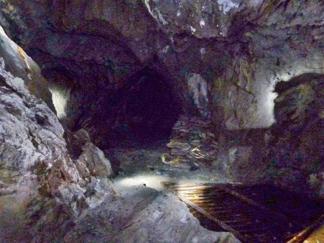 Underground in the Dolaucothi Gold Mine