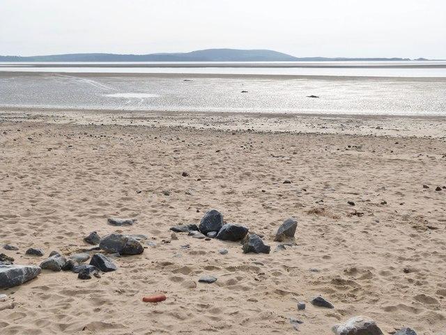 The beach at, Llanelli