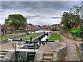 SJ9097 : Ashton Canal, Fairfield Top Lock (#18) by David Dixon