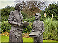 SJ9097 : Moravians Statue at Fairfield by David Dixon