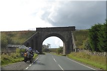 SD7992 : Railway bridge over A684 near Moorcock Inn by David Smith