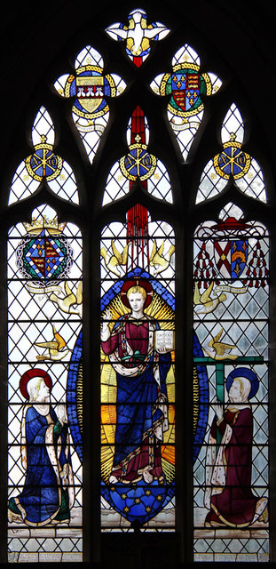 St Helen & St Mary, Bourn - Stained glass window