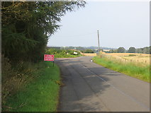 NS8739 : Road junction at Moor Plantation by Peter Wood