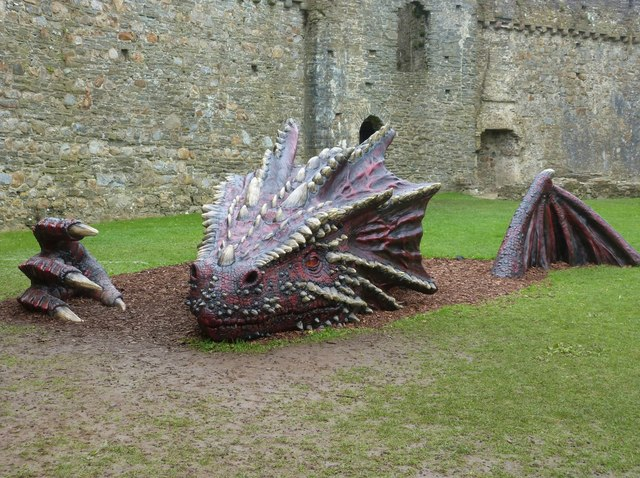 A Dragon at Kidwelly Castle
