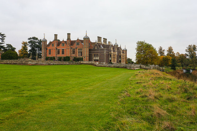 Charlecote Park house from river walk